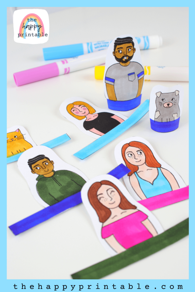 Printable finger puppets for creative play