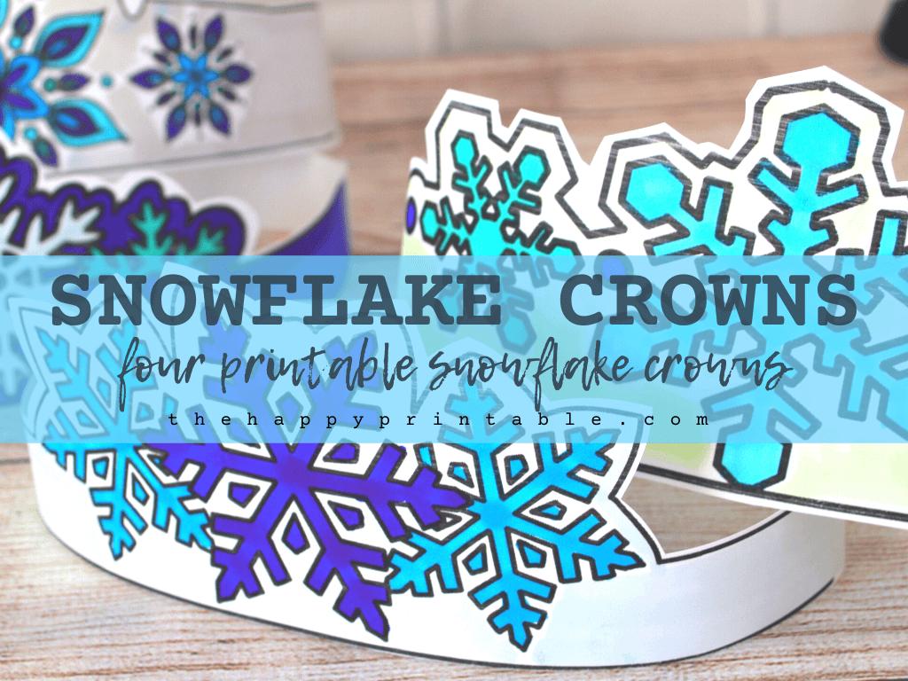 printable snowflake headbands for kids