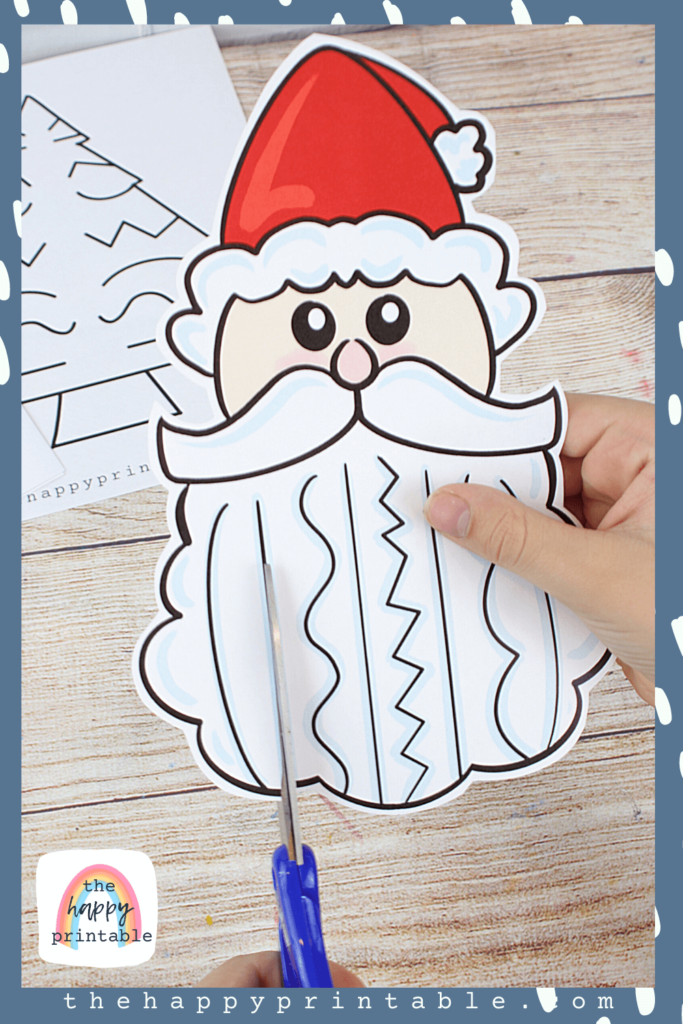 Santa printable to help with scissor skills