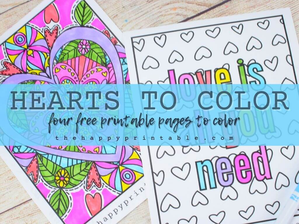 Free heart coloring pages