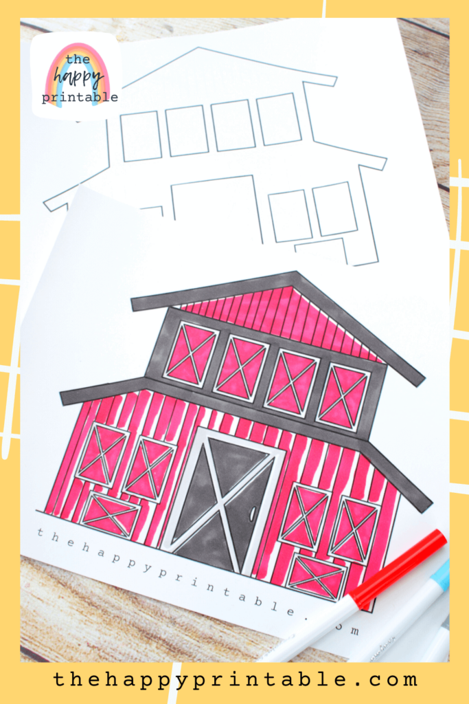 Barn coloring pages with doors that open