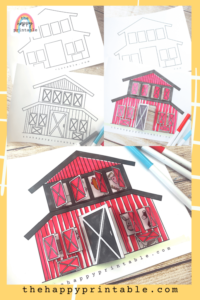 Free pritnable barn coloring page