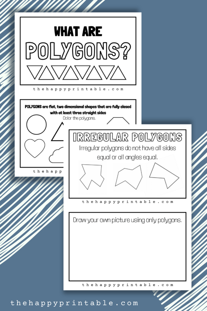 Explore what polygons are with this set of printable polygon worksheets