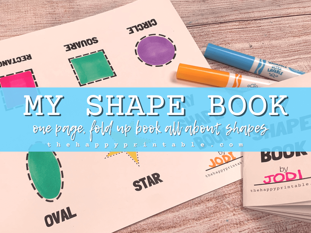 Printable shape book
