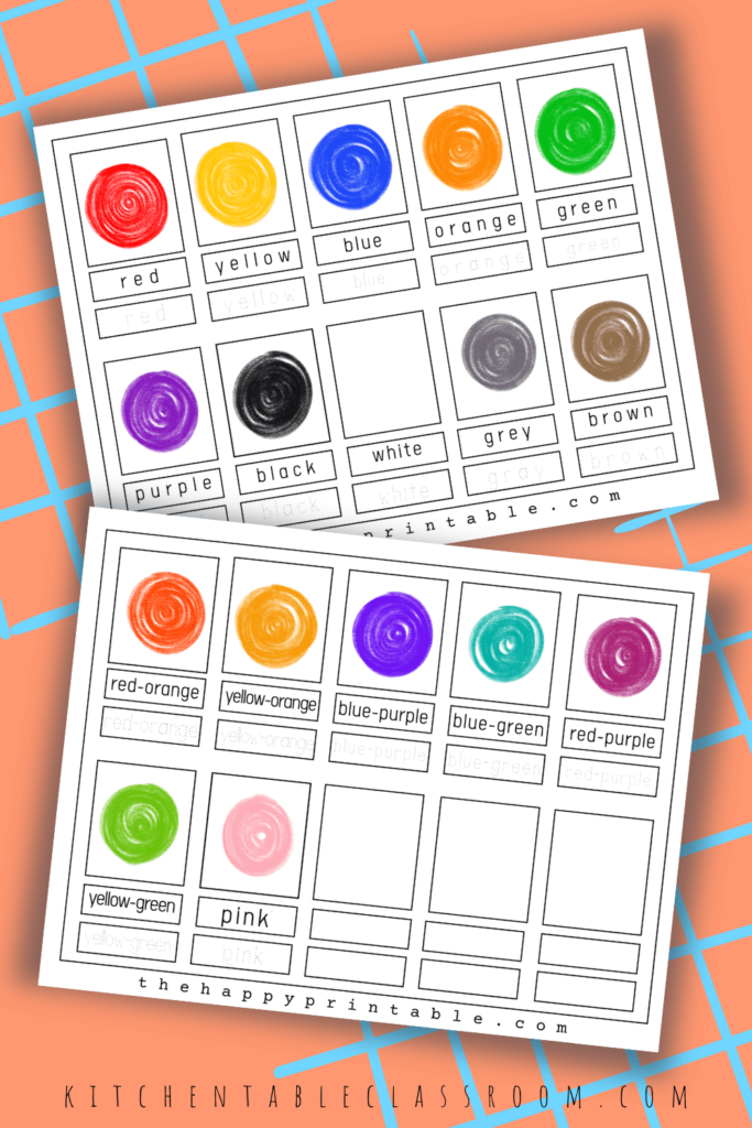 Printable color flashcards are perfect for learning colors and color words.