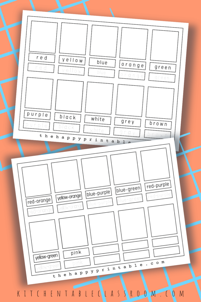 Blank color flashcards are empty so that your students can supply their own color examples.