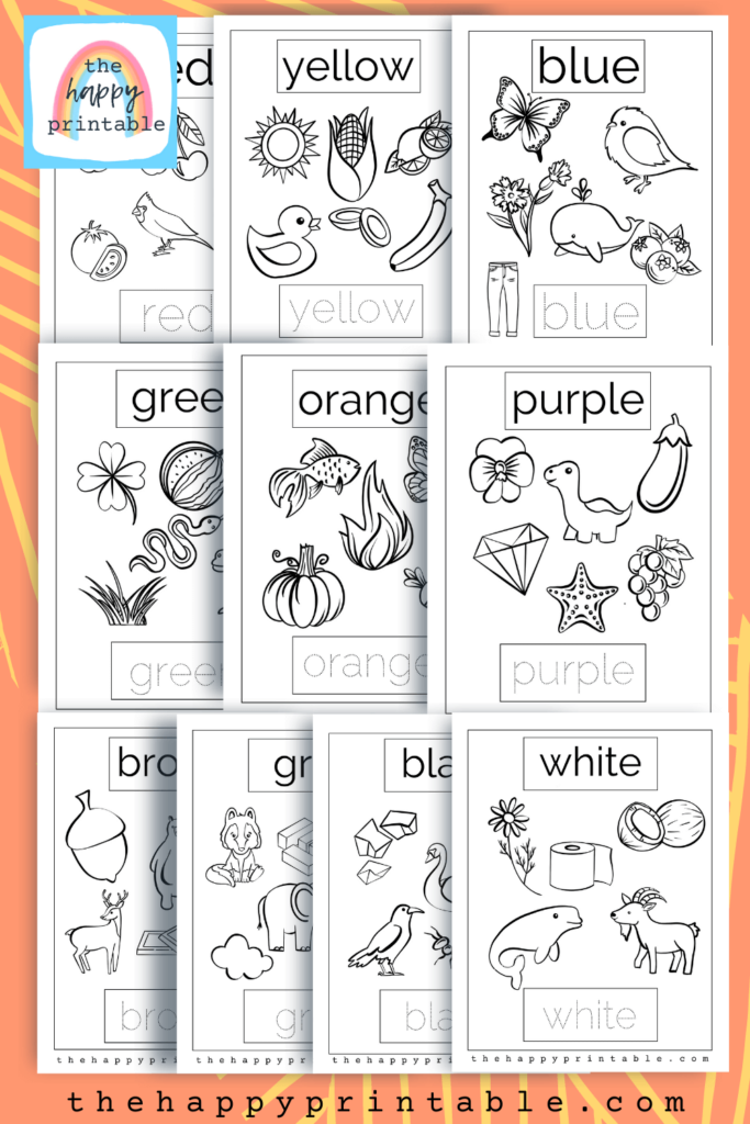 Color coloring pages- includes primary colors coloring pages, secondary colors coloring pages, neutral colors coloring pages