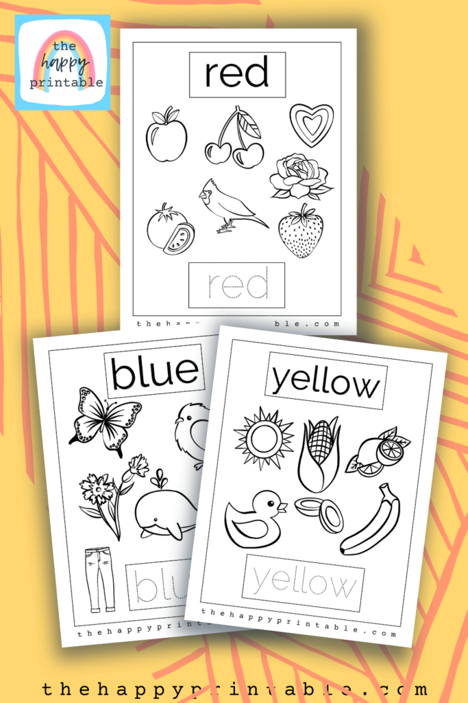 primary colors coloring pages, free printable colors coloring pages